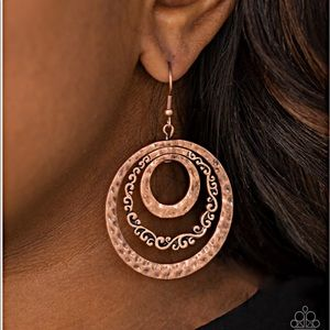 Paparazzi Copper Earrings